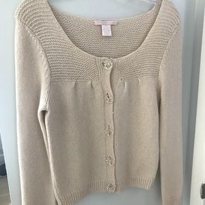 REBECCA TAYLOR cardigan with glass buttons, sz M